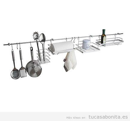 Barra colgar accesorios cocina
