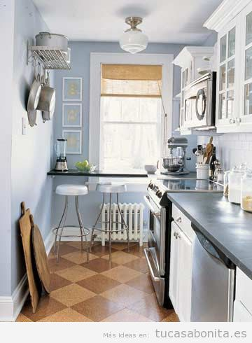 Cocinas peque as bonitas tu casa bonita trucos e ideas - Amueblar cocinas pequenas ...