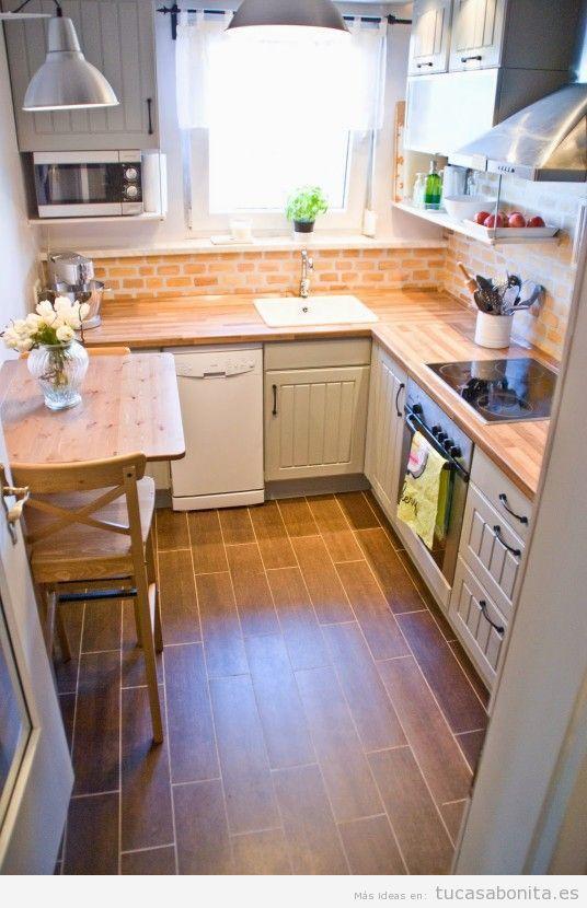 cocinas pequeas y modernas 10 - Cocinas Cuadradas