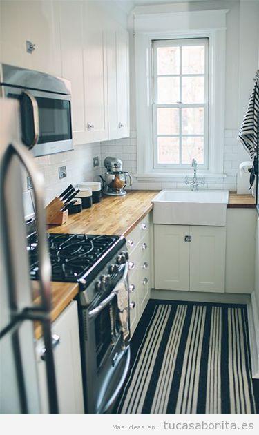 Ideas y trucos para decorar tu casa de estilo moderna o for Fotos cocinas pequenas cuadradas