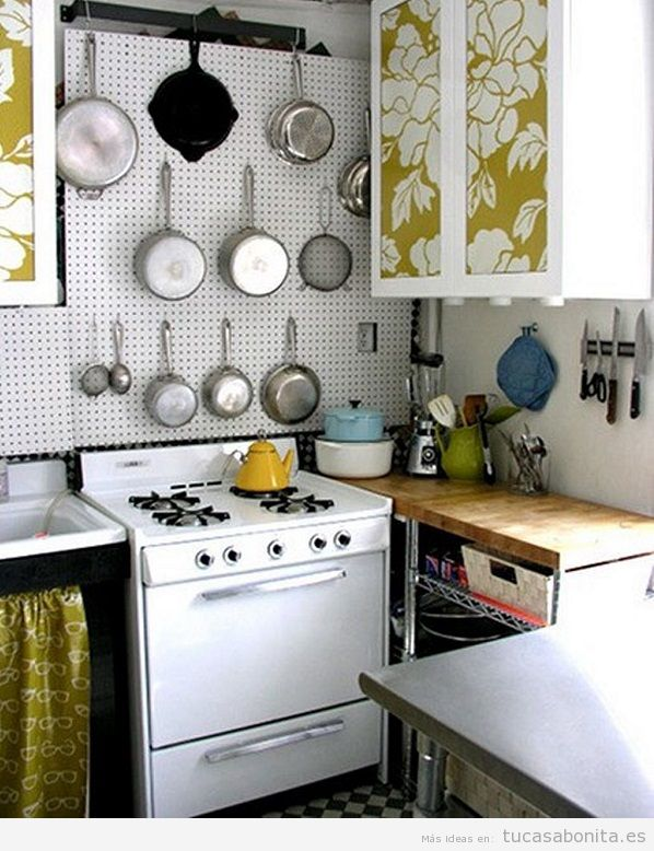 Cocinas peque as bonitas tu casa bonita for Cocinas vintage modernas