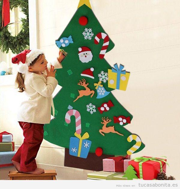 Comprar árbol navidad fieltro para niños
