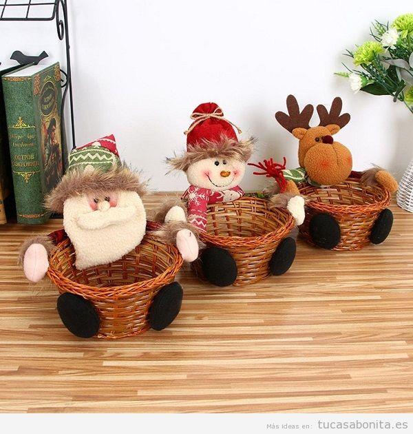 Cestas caramelos Navidad comprar online
