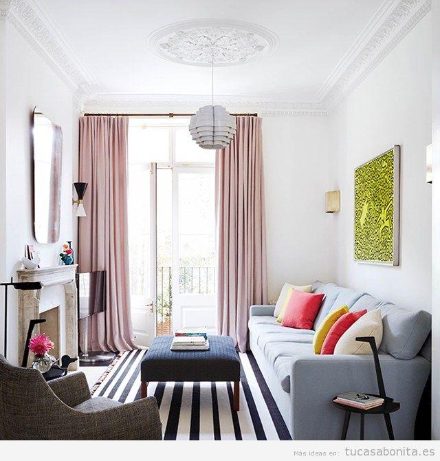 Consejos para amueblar y decorar de salas de estar for Idea sala de estar cuadrada