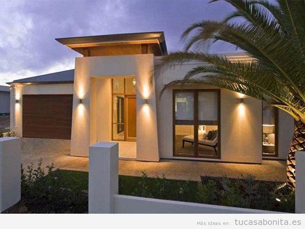 Consejos mejorar seguridad casa, exterior iluminado