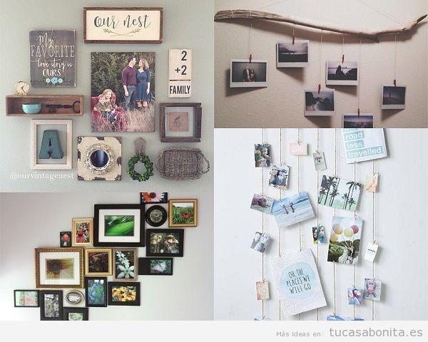 Ideas y trucos para decorar tu casa de estilo moderna o - Decoracion de paredes con fotos ...