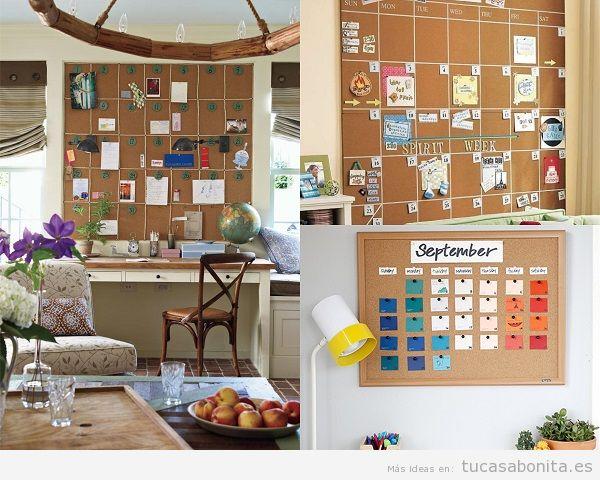 Calendarios para decorar un salón