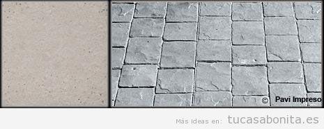 Hormigón impreso color gris claro