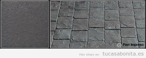 Hormigón impreso color gris guijarro
