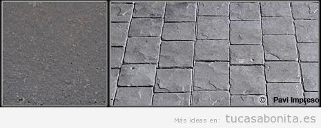 Hormigón impreso color gris piedra