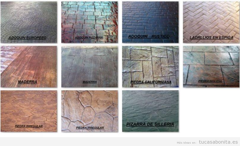 Colores del hormig n impreso carta de colores de pavi for Hormigon impreso tipos