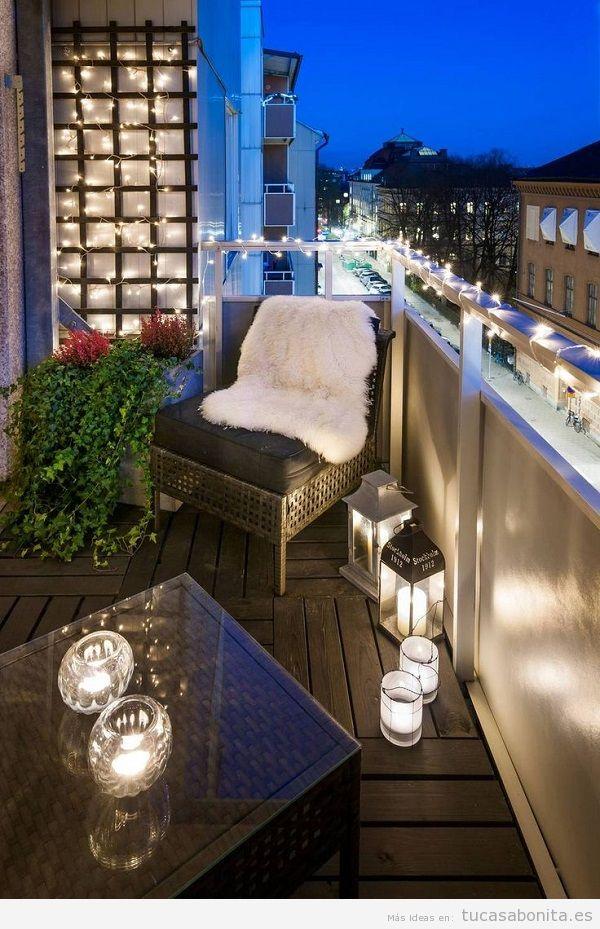 Luces de Navidad balcón casa elegantes 2