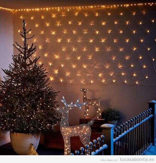 Luces de Navidad balcón casa elegantes 3