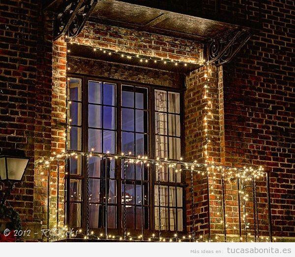 Luces de Navidad balcón casa elegantes