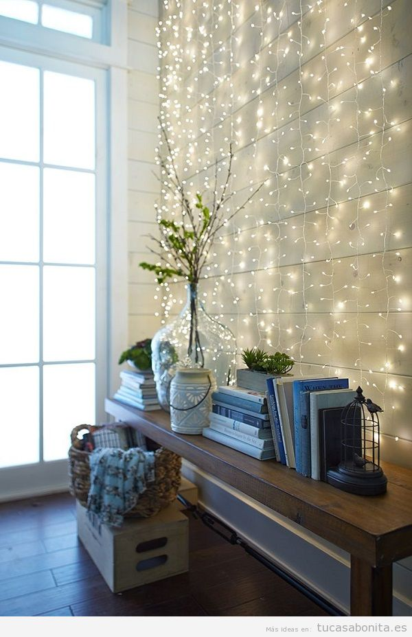 Luces de navidad elegantes para decorar tu casa tu casa for Luces de pared interior