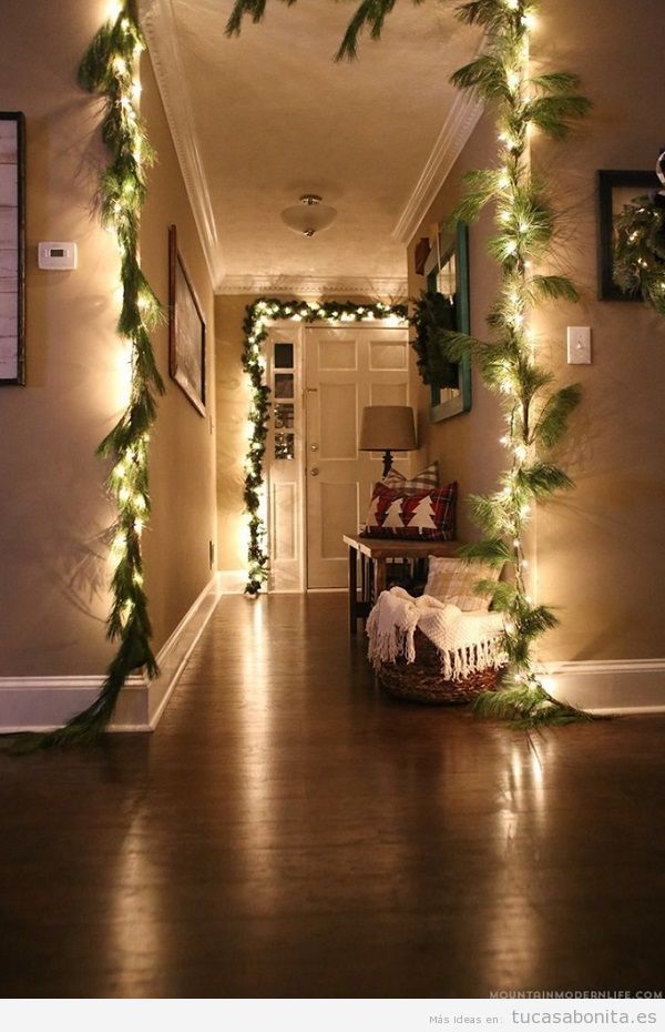 Luces de Navidad interior de casa elegantes 6