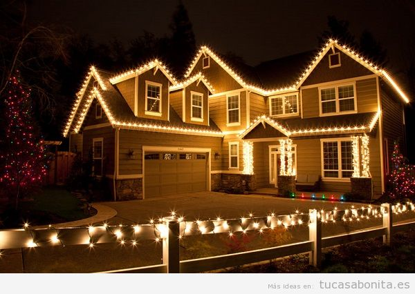 Luces de navidad elegantes para decorar tu casa tu casa for Luces led para casas exterior