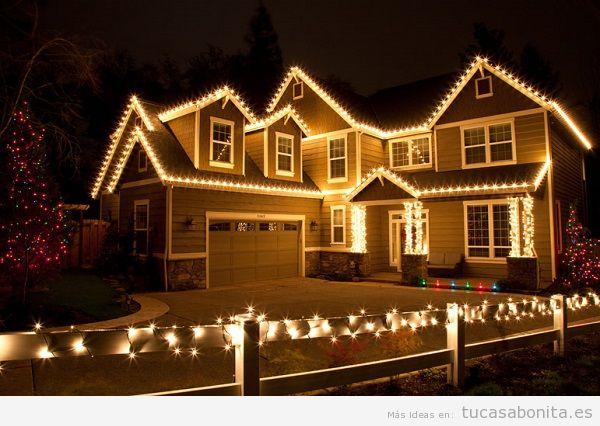 Luces de Navidad exterior de casa elegantes 2