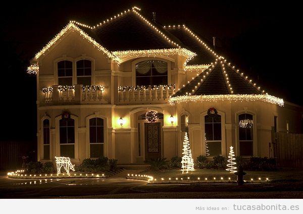 Luces de Navidad exterior de casa elegantes 3