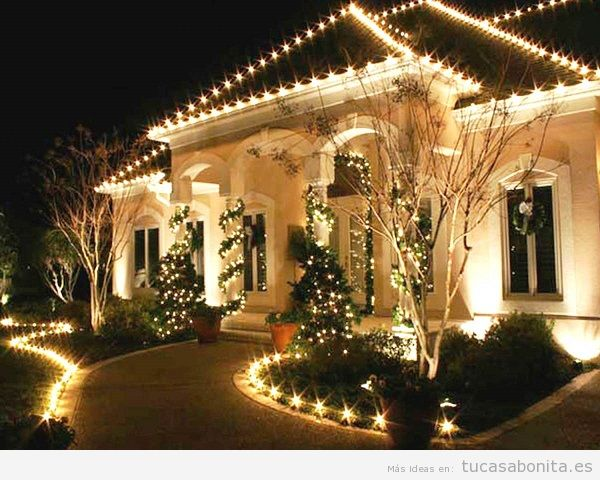 Luces de navidad elegantes para decorar tu casa tu casa for Luces decoracion exterior