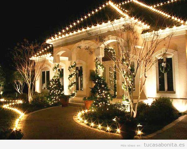 Luces de Navidad exterior de casa elegantes 4