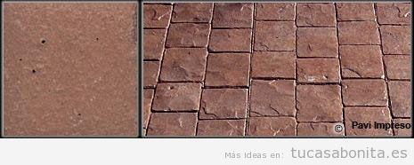 Hormigón impreso color marrón otoñal