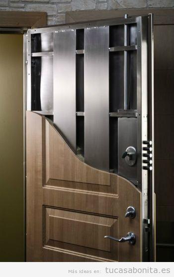 Consejos mejorar seguridad casa, puerta acorazada