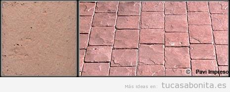 Hormigón impreso color terracota