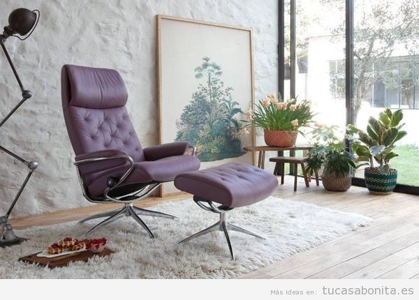 Sillón de descanso stressles color violeta