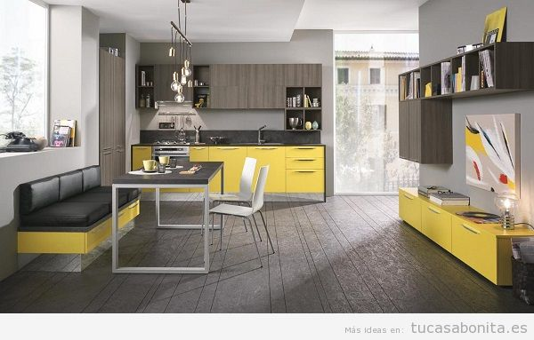 Cocinas modernas color amarillo