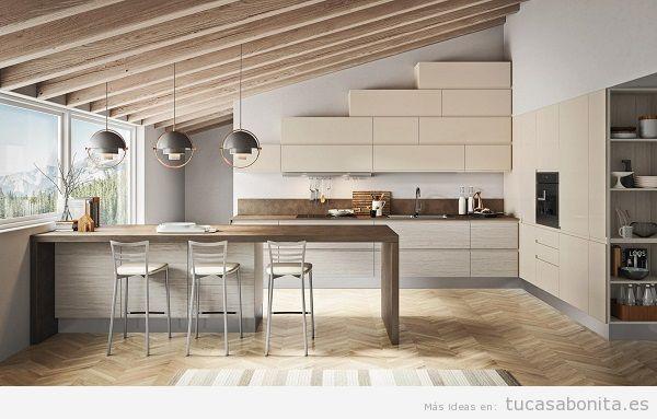 Cocinas modernas color beige