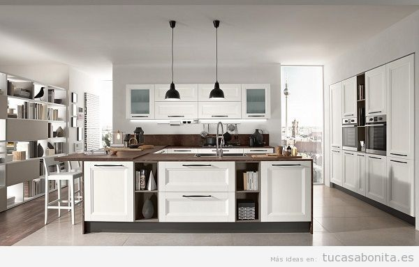 Cocinas modernas de dise o italiano en 10 colores con for Mostrar cocinas modernas