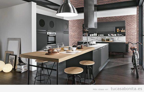 Cocinas modernas color negro