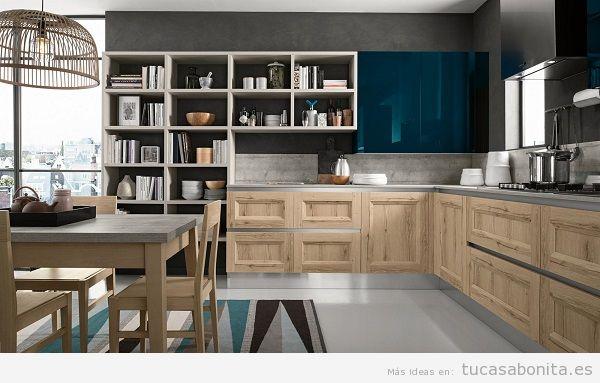 Cocinas modernas de dise o italiano en 10 colores con cu l te quedas tu casa bonita - Cocinas color roble ...