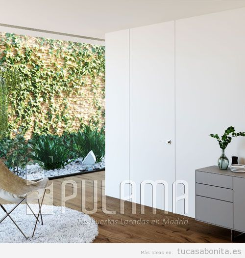 Puerta oculta sin marco blanco lacado 2
