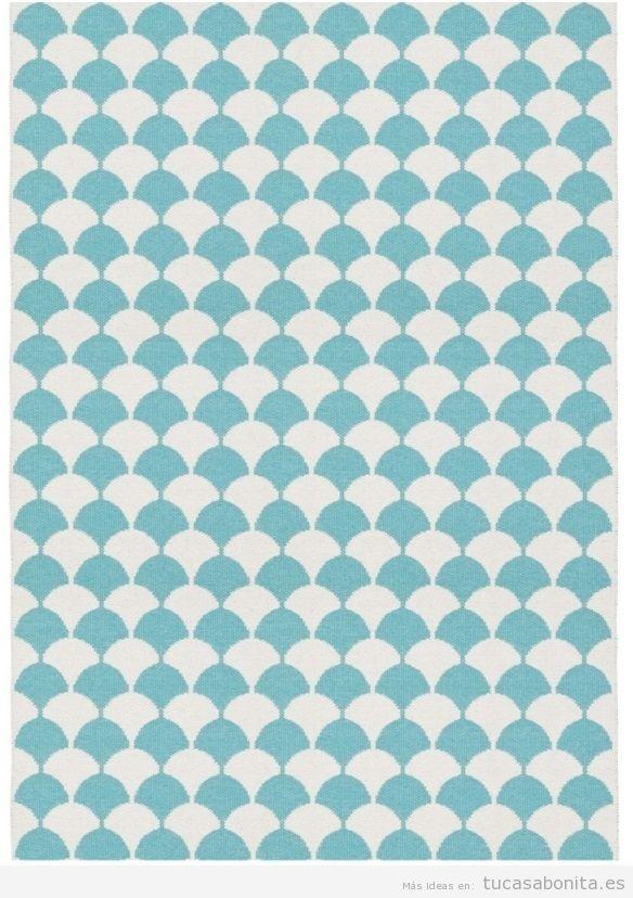 Alfombra mosaico azul