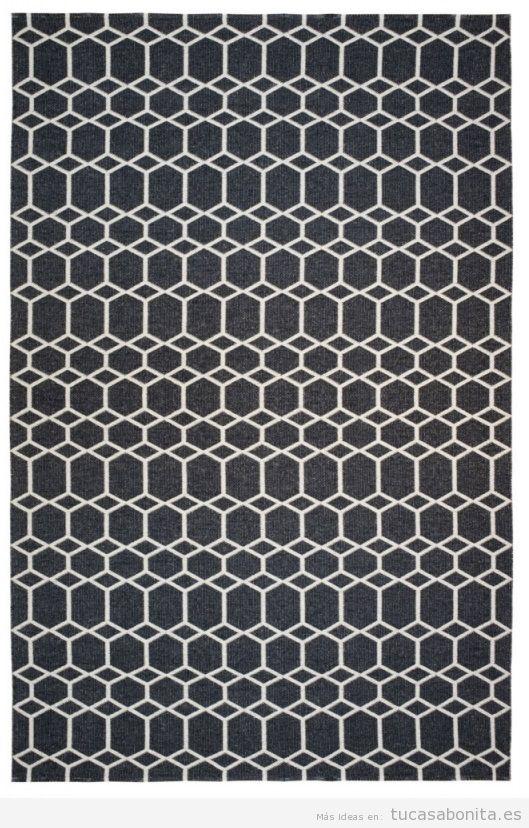 Alfombra mosaico negro