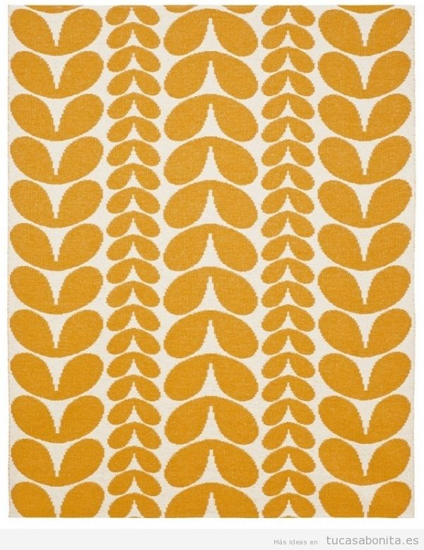 Alfombra mosaico naranja