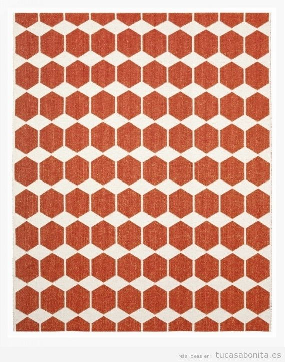 Alfombra mosaico rojo