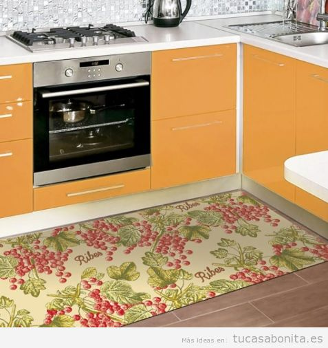 Ideas y trucos para decorar tu casa de estilo moderna o - Alfombras para cocina ...