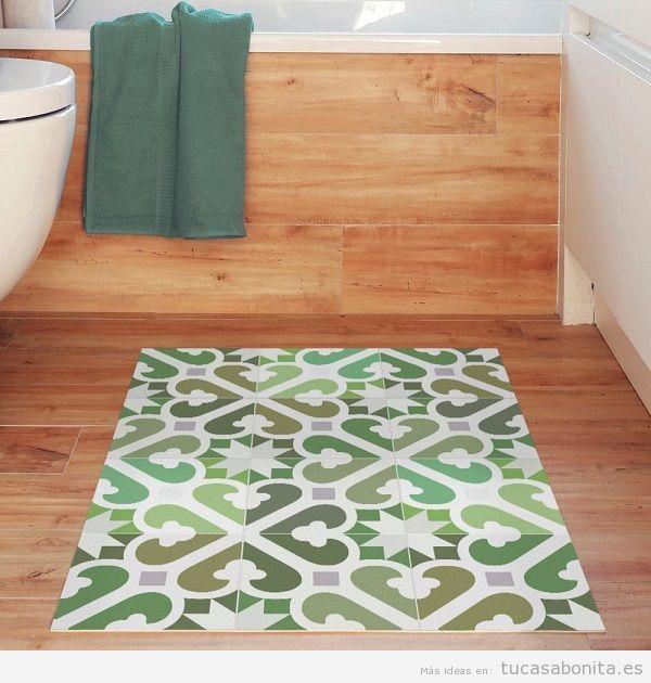 Alfombras de vinilo efecto baldosa hidr ulica tiles y - Antideslizantes para alfombras ...