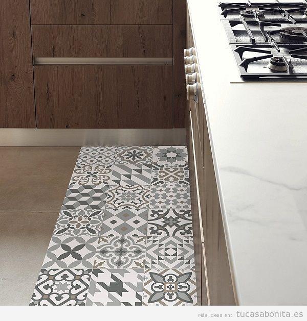 Ideas y trucos para decorar tu casa de estilo moderna o - Alfombra vinilo cocina ...