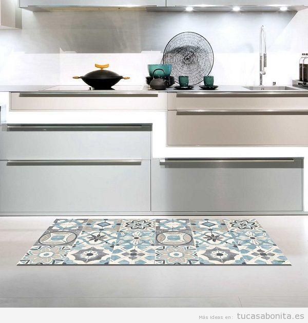 Alfombras de vinilo efecto baldosa hidr ulica tiles y - Alfombras de vinilo para cocina ...