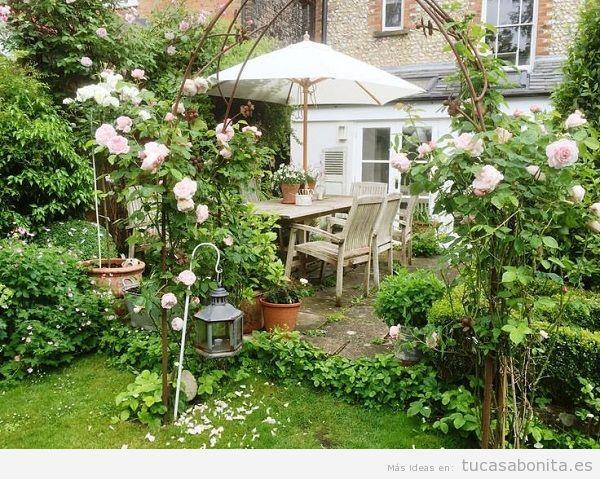 Jardín con rosas en casa 3