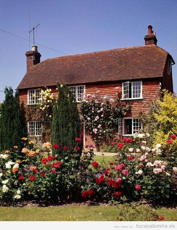 Jardín con rosas en casa 2