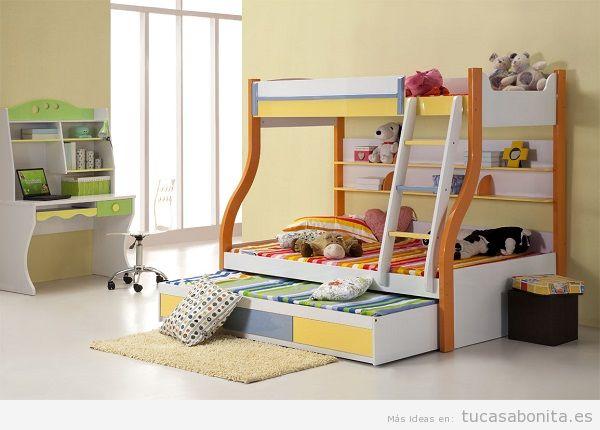 Literas bonitas y originales para habitaciones infantiles 11