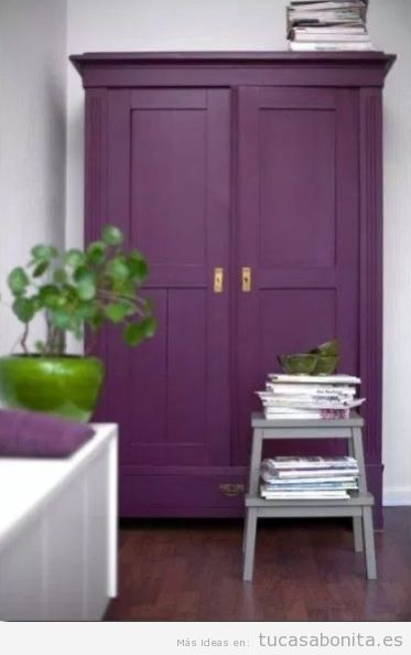 Tendencia decoración casa color pantone año 2018 ultra violet 11
