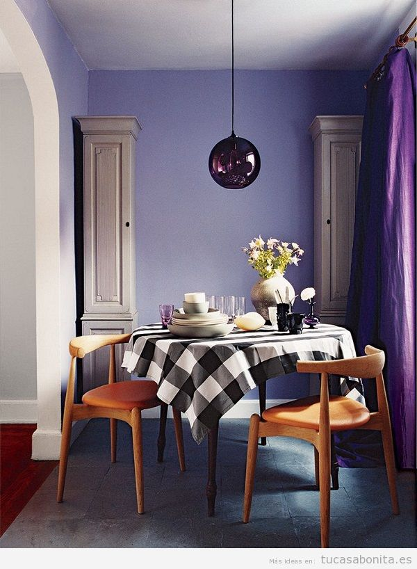 Tendencia decoración casa color pantone año 2018 ultra violet 12