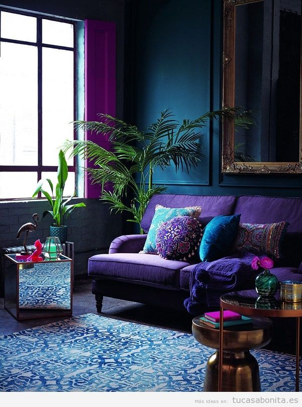Tendencia decoración casa color pantone año 2018 ultra violet
