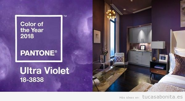 Tendencia decoración casa color pantone año 2018 ultra violet 2